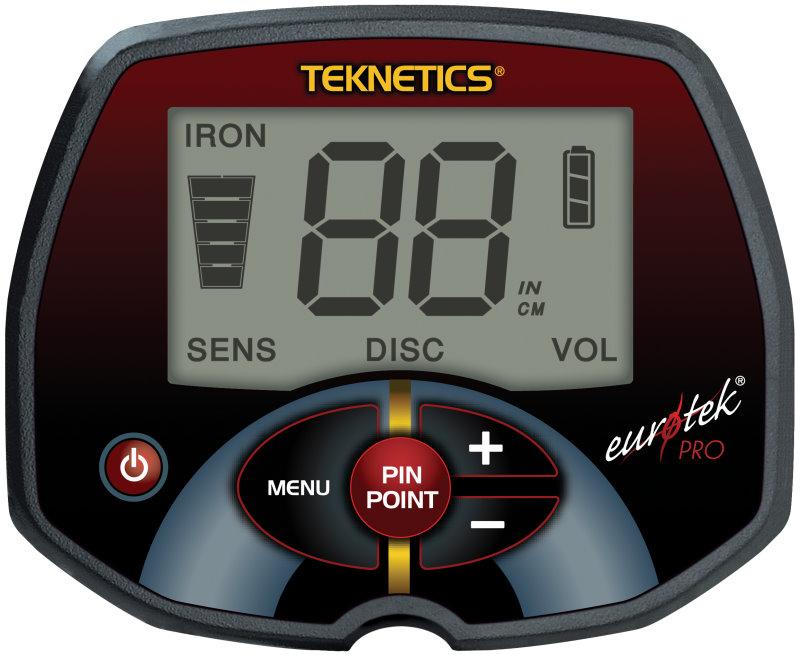 Metalldetektor Teknetics Eurotek PRO (LTE) mit 29cm DD-Spule